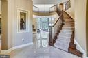 Foyer with Marble Tile Flooring & HW Staircase - 2539 DONNS WAY, OAKTON