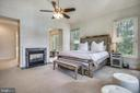 Main Level Owner's Suite w 2 Sided Fireplace - 2539 DONNS WAY, OAKTON