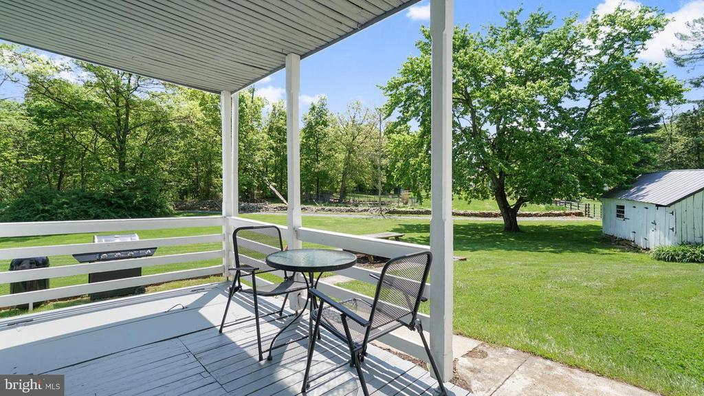 Lovely back porch for relaxing or a cup of coffee. - 12823 BRICE RD, THURMONT