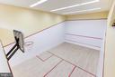 Regulation sized squash court/1/2 ct basketball - 1342 POTOMAC SCHOOL RD, MCLEAN