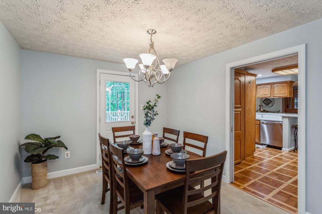 Dining Room has a pocket door & walkout to deck - 108 ALMEY CT, STERLING
