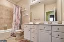 Full hall bathroom on the bedroom level - 21260 PARK GROVE TER, ASHBURN