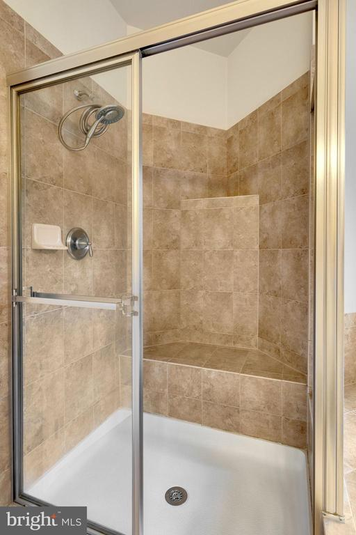 Primary bedroom bath- shower enclosure - 21260 PARK GROVE TER, ASHBURN