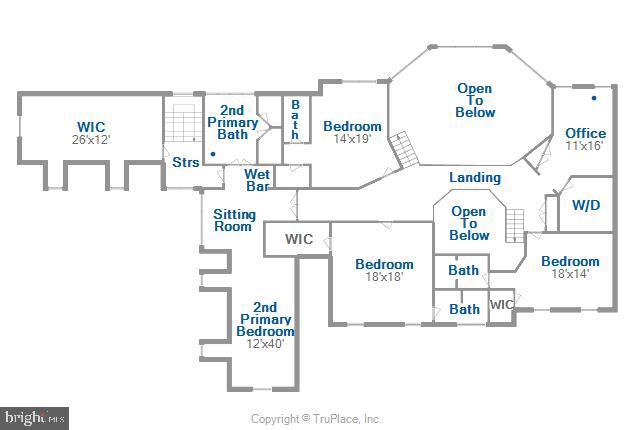 Upper level Floorplan - 2539 DONNS WAY, OAKTON