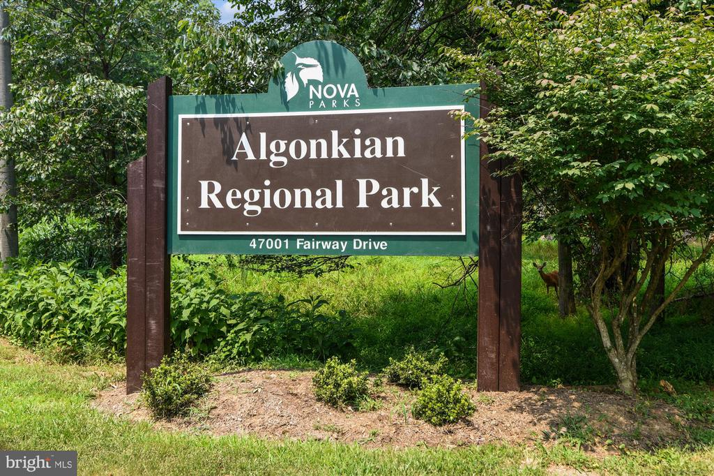 ALGONKIAN REGIONAL PARK NEARBY - 20672 PARKSIDE CIR, STERLING