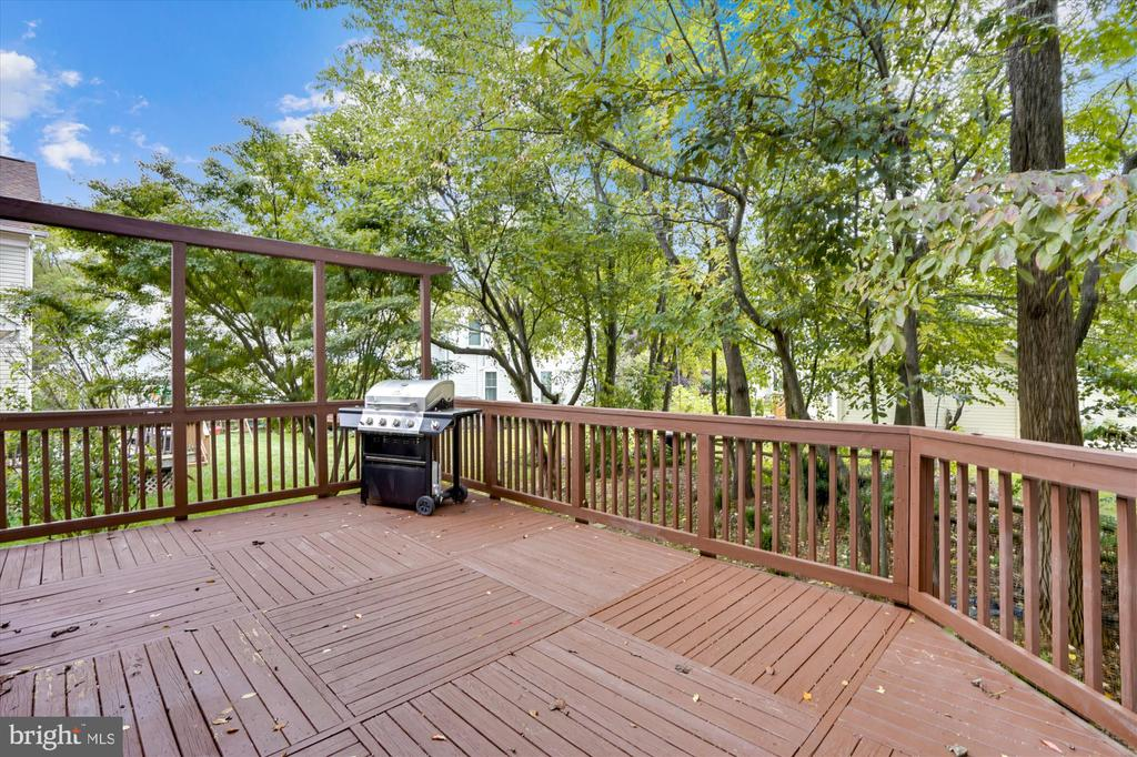 OPPOSITE VIEW FROM DECK OF TREES - 20672 PARKSIDE CIR, STERLING
