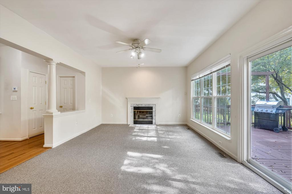 LIGHT-FILLED FAMILY ROOM WITH FIREPLACE - 20672 PARKSIDE CIR, STERLING