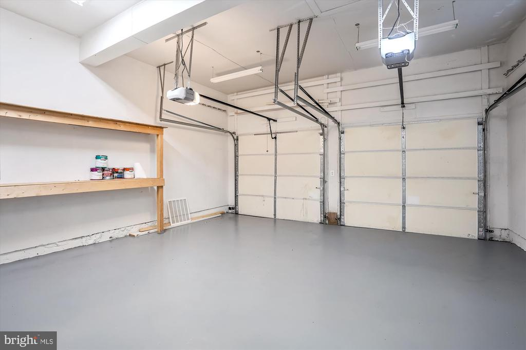 GARAGE FLOOR AND WALLS HAVE BEEN PAINTED - 20672 PARKSIDE CIR, STERLING