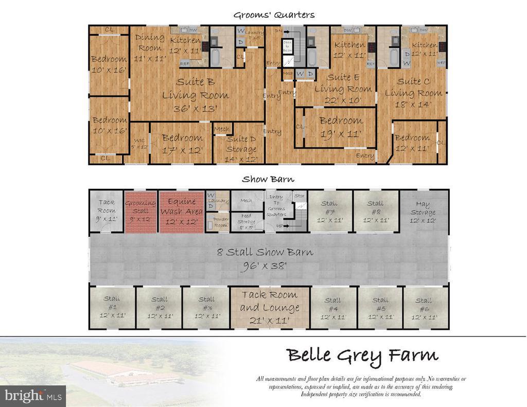 Shoe Barn Floor Plan & Grooms Quarters - 21281 BELLE GREY LN, UPPERVILLE
