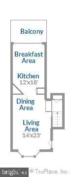 Floor Plan Main Level - 1597 LEEDS CASTLE DR #101, VIENNA