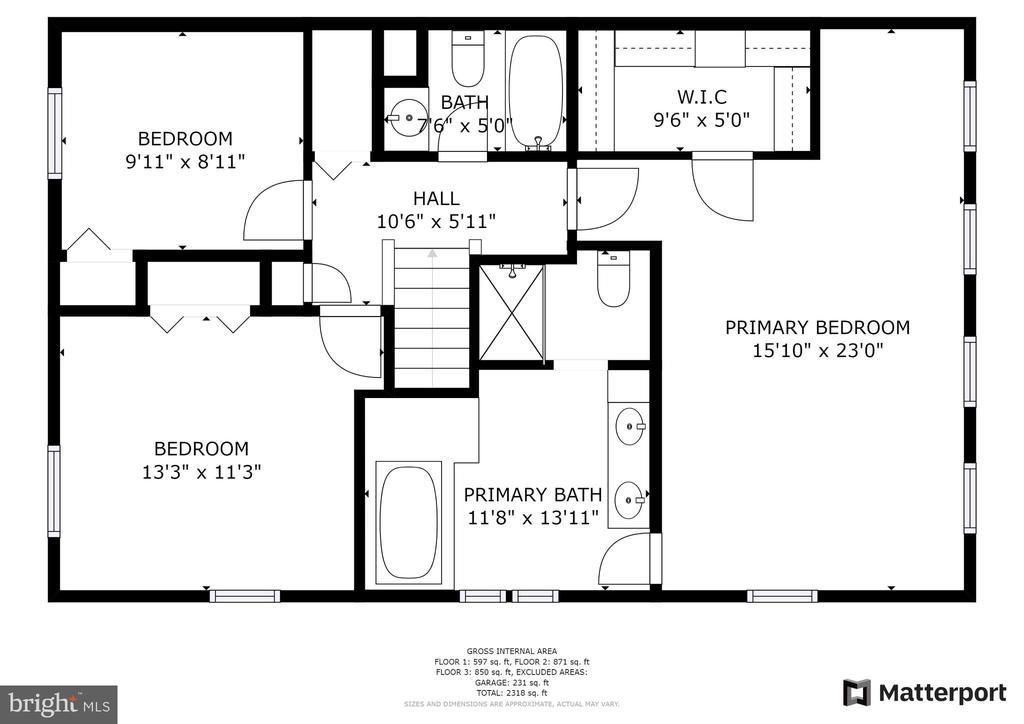 Floor plan upper 1 - 6151 BRAELEIGH LN, ALEXANDRIA