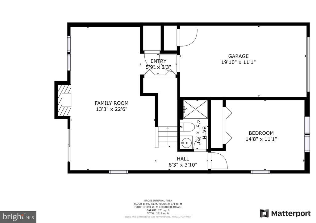 Floor plan lower level - 6151 BRAELEIGH LN, ALEXANDRIA