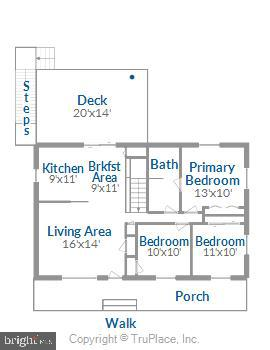 Floor Plan Main Level - 6508 HAYSTACK RD, ALEXANDRIA