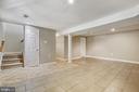 Basement Recreation Room with Storage Closet - 6508 HAYSTACK RD, ALEXANDRIA
