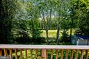Tree Lined Backyard and Golf course beyond - 6508 HAYSTACK RD, ALEXANDRIA