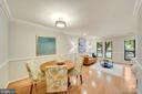 wood floors brighten the main level of the home - 4427 7TH ST N, ARLINGTON
