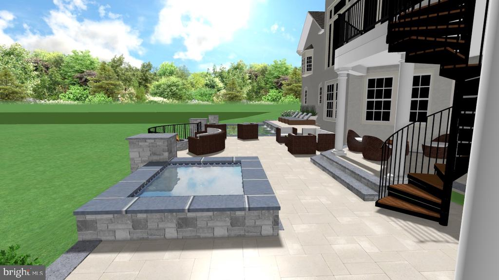 Proposed Back Yard SPce. - 2539 DONNS WAY, OAKTON