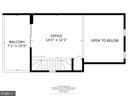 balcony, skylights in loft for office, gym, 3 BR - 4427 7TH ST N, ARLINGTON