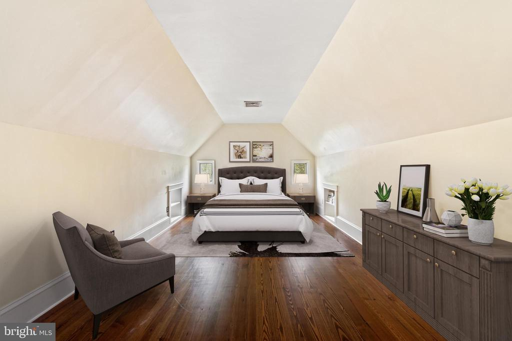 virtually staged primary bedroom - 20707 ST LOUIS RD, PURCELLVILLE