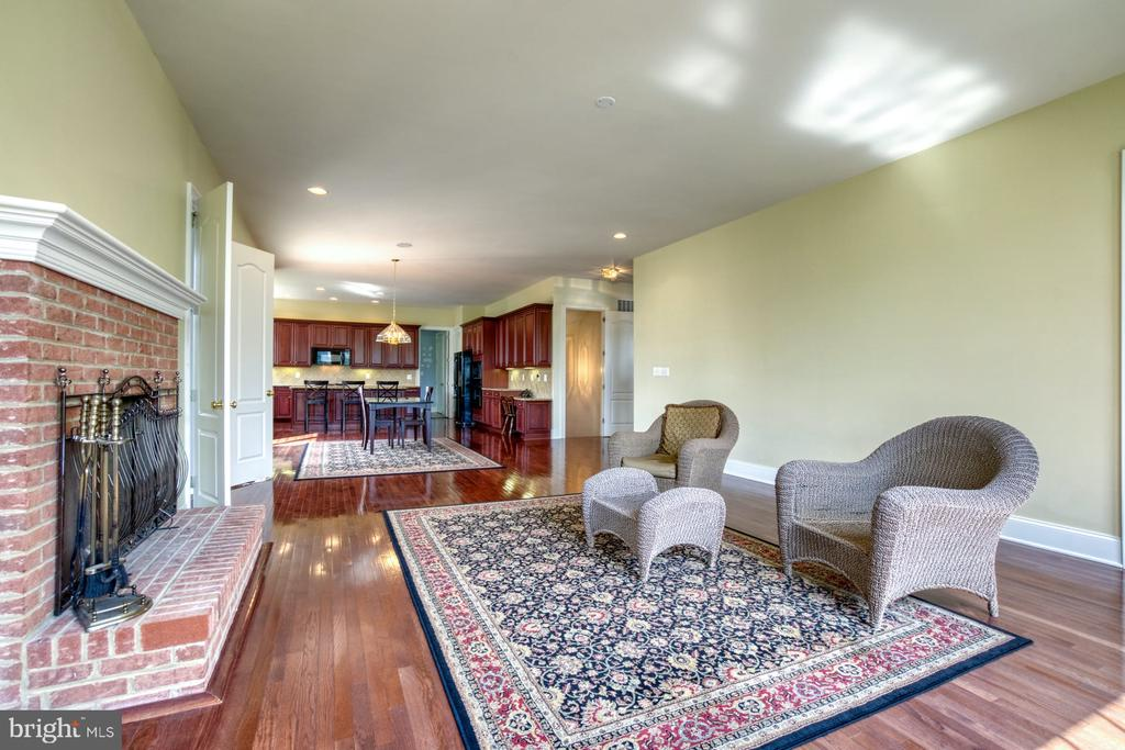 FAMILY ROOM EQUIPPED WITH A WOOD BURNING FIREPLACE - 20003 BELMONT STATION DR, ASHBURN