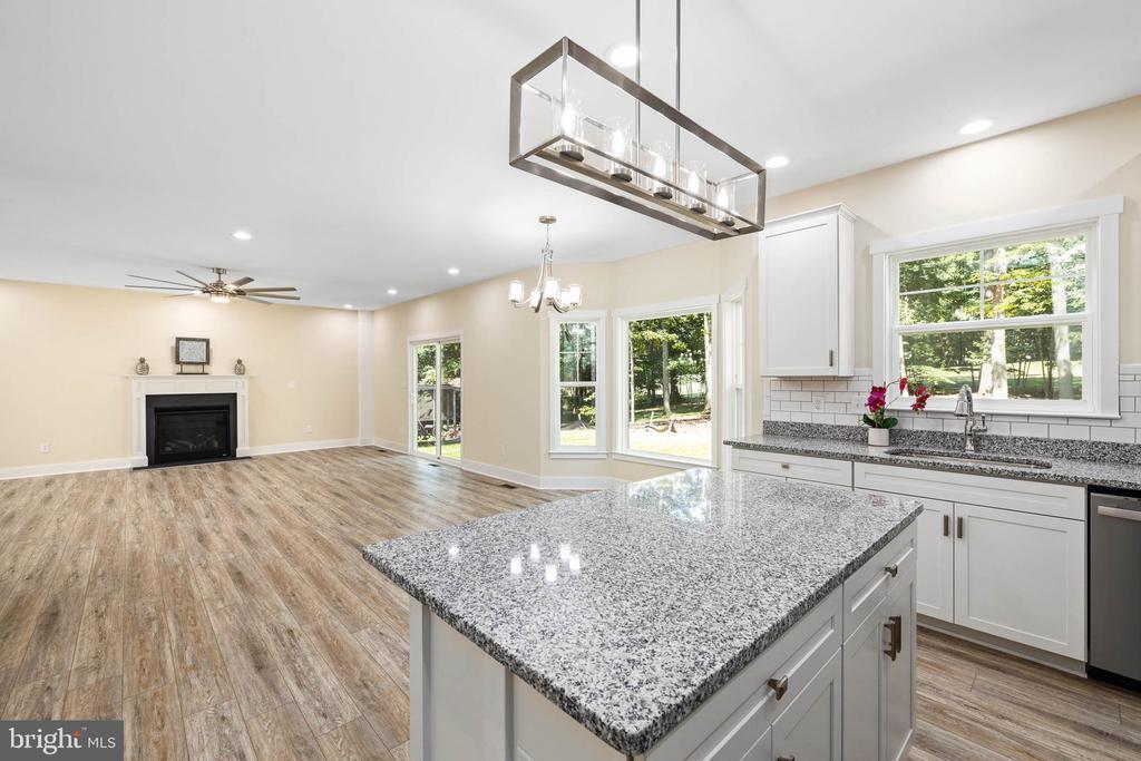 Granite countertops, soft close cabinets - 418 BIRDIE RD, LOCUST GROVE