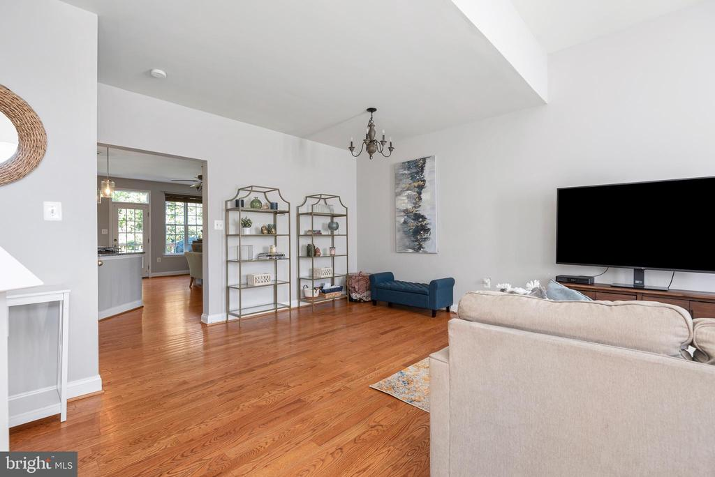 Beautiful hardwoods throughout the home - 612 BURBERRY TER SE, LEESBURG