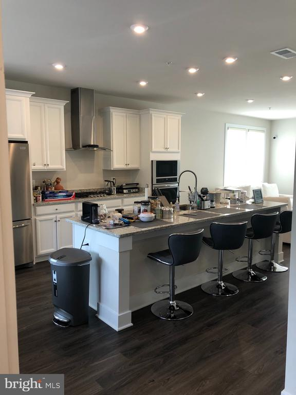 Large Kitchen Island -  added Recessed Lights - 12012 N SHORE DR, RESTON