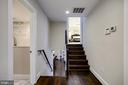 HW floors ascend to upper bedrooms - 5507 DURBIN RD, BETHESDA