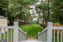 Deck to Backyard - 14315 FERNDALE RD, WOODBRIDGE