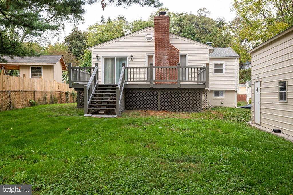 Backyard - 14315 FERNDALE RD, WOODBRIDGE