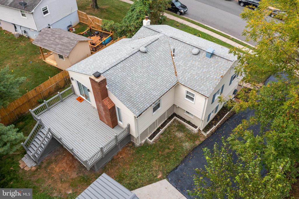 Aerial View of Backyard - 14315 FERNDALE RD, WOODBRIDGE