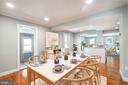 Open Concept, Dining Area with Kitchen - 5921 EDGEHILL DR, ALEXANDRIA