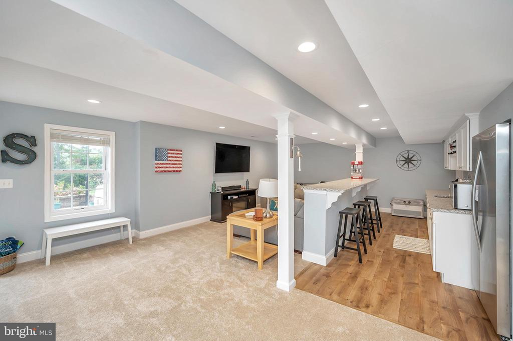 Open Family room in basement - 7398 JACKSON DR, KING GEORGE