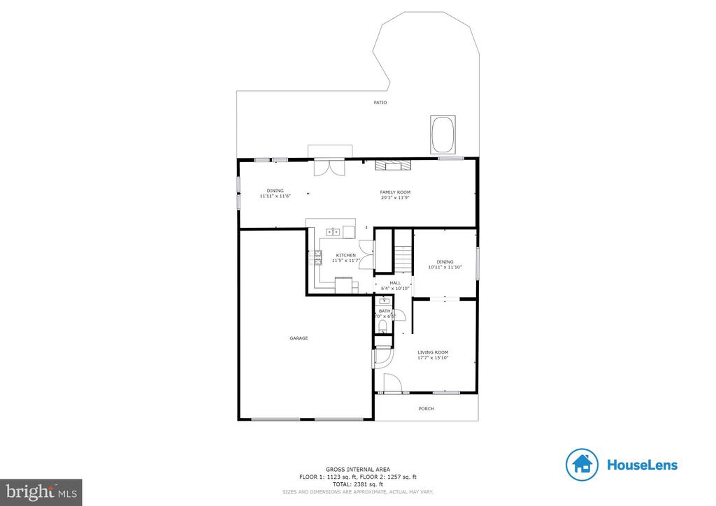 Floorplan Main Level - 5363 SATTERFIELD DR, WOODBRIDGE