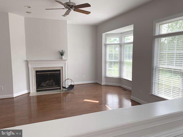 Family Room with Fireplace & Bay window - 43512 STARGELL TER, LEESBURG
