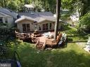 Beautiful deck overlooking fenced yard - 5919 VERNONS OAK CT, BURKE