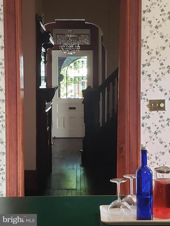 View of Front Door From Inside Kitchen Peninsula. - 1115 RHODE ISLAND AVE NW, WASHINGTON