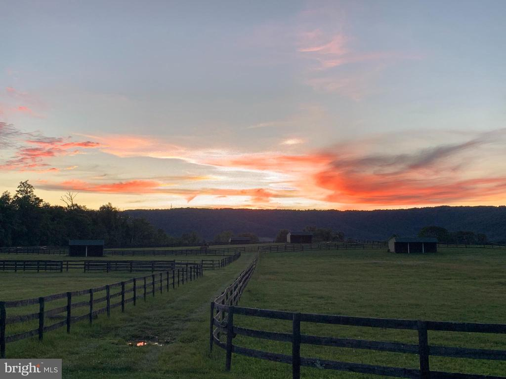 One of many beautiful Sunsets at Trappe Rd - 20022 TRAPPE RD, BLUEMONT