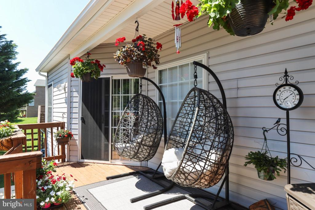 There are Many Outdoor Living Spaces! - 384 TURNBERRY DR, CHARLES TOWN