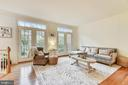 Spacious Living Room with  new French Doors - 1323 SUNDIAL DR, RESTON