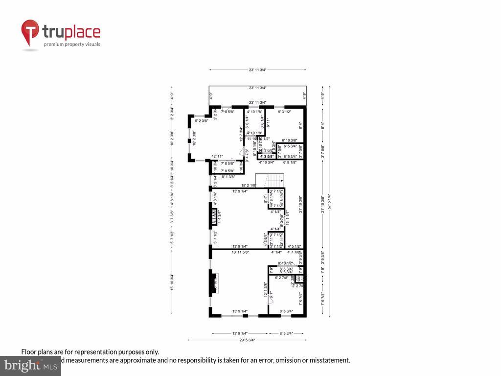 Upper level w/ measurements - 1250 D ST SE, WASHINGTON