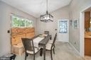 Banquette can stay if desired; door to porch - 141 EAGLE CT, LOCUST GROVE
