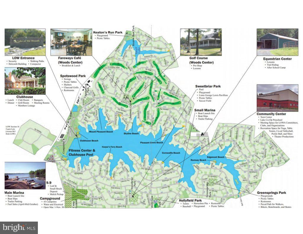 map of amenities enjoyed at Lake of the Woods - 141 EAGLE CT, LOCUST GROVE