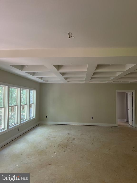 FAMILY ROOM WITH COFFERED CEILING - 2303 LAKEVIEW PKWY, LOCUST GROVE