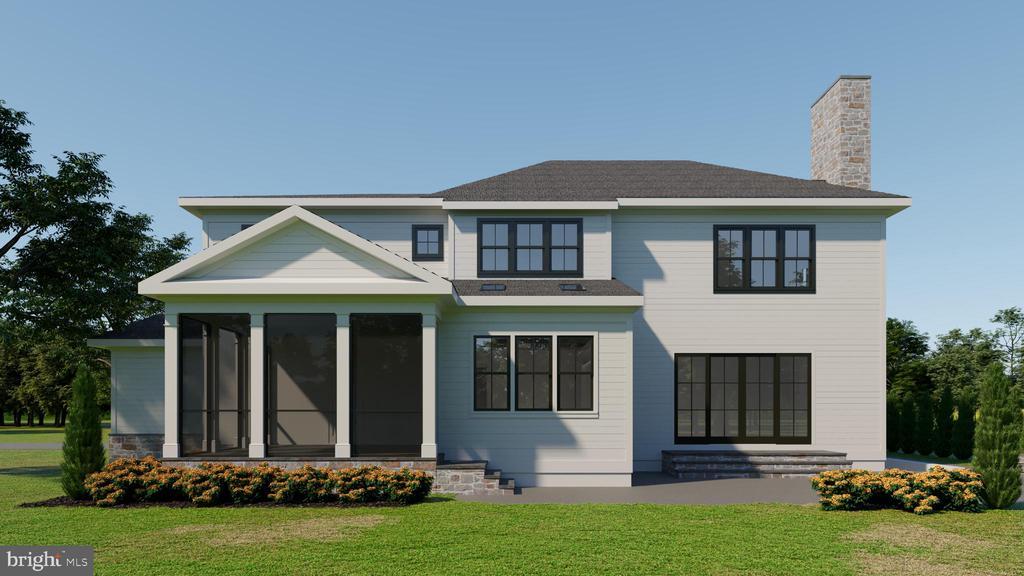 Rear elevation. Screened porch. Terrace. ELEVATOR - 3150 N POLLARD ST, ARLINGTON