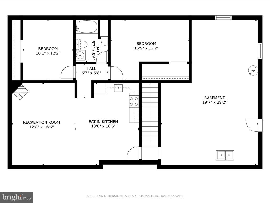 Lower Level floor plan - 10740B WOODSBORO RD, WOODSBORO