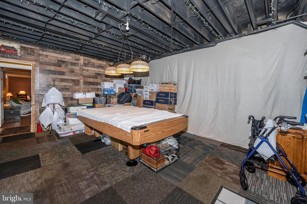 Lower level partially finished game room - 10740B WOODSBORO RD, WOODSBORO