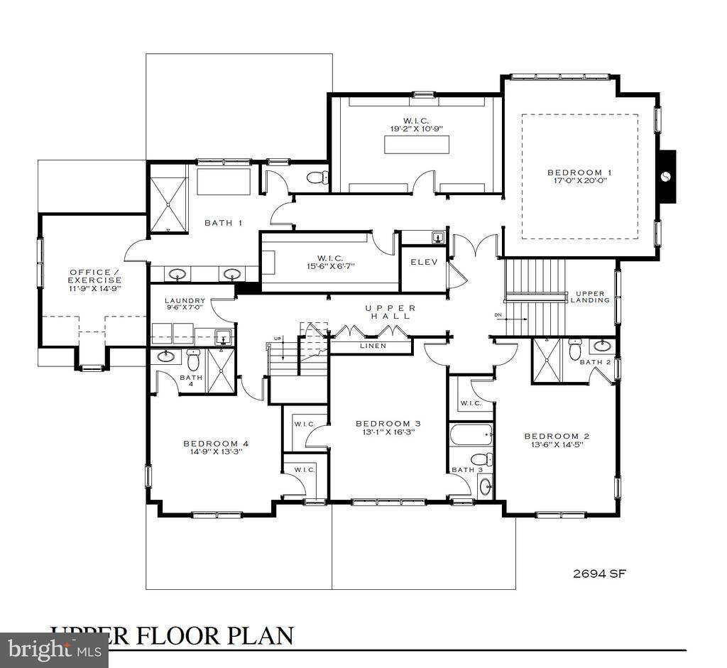 Expansive Master suite w/office. 3 en-suite BR - 3630 N NELSON ST, ARLINGTON