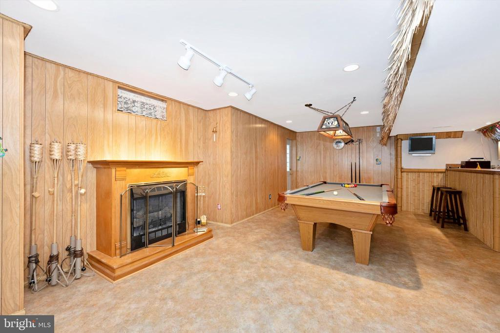 Relax in your basement, electric Fireplace - 6904 BARON CT, FREDERICK