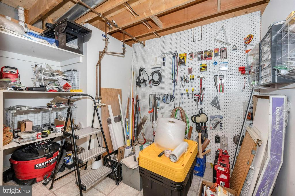 Additional storage in lower level - 6304 SPRING FOREST RD, FREDERICK